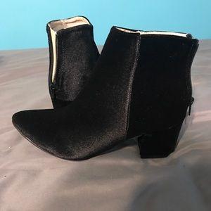 Velvet Black Booties !!New in Box!!